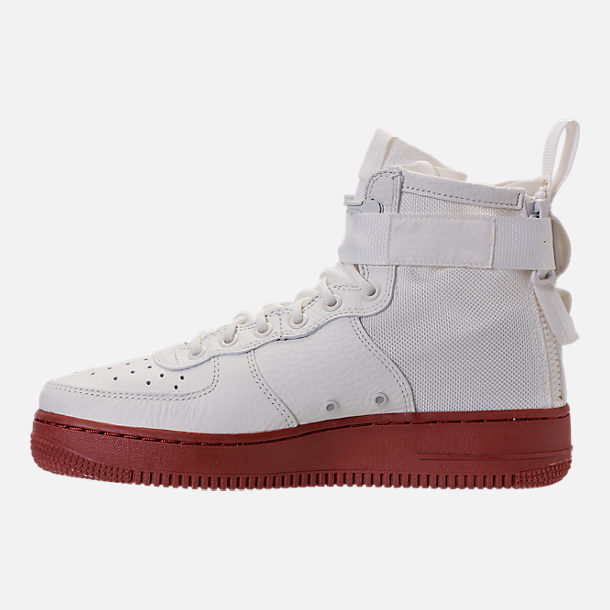 Left view of Men's Nike SF-AF1 Mid Casual Shoes in Ivory/Mars Stone