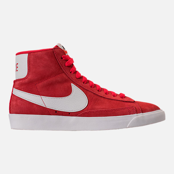 Right view of Women's Nike Blazer Mid Vintage Suede Casual Shoes in Speed Red/Sail/Black