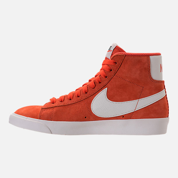 Left view of Women's Nike Blazer Mid Vintage Suede Casual Shoes in Vintage Coral/Sail/Sail