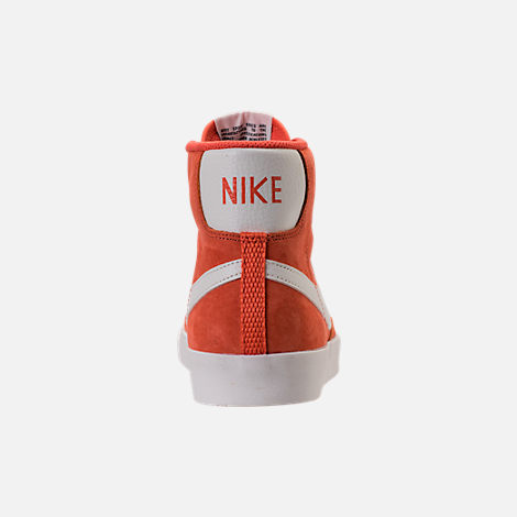 Back view of Women's Nike Blazer Mid Vintage Suede Casual Shoes in Vintage Coral/Sail/Sail