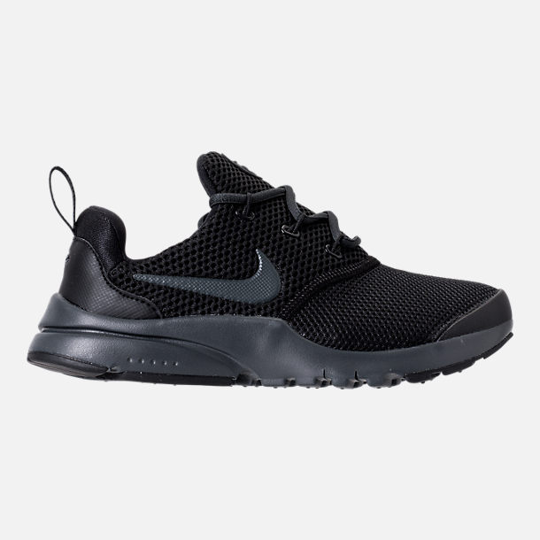 Right view of Boys' Preschool Nike Presto Fly Casual Shoes in Black/Anthracite