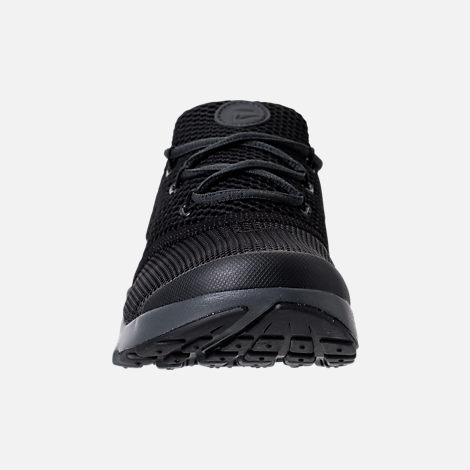 Front view of Boys' Preschool Nike Presto Fly Casual Shoes in Black/Anthracite