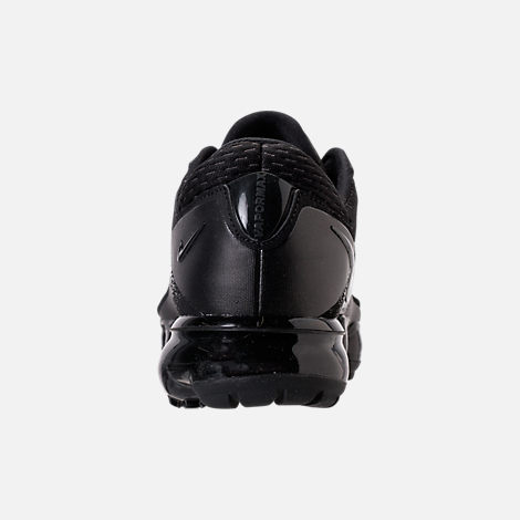 Back view of Boys' Grade School Nike Air VaporMax Running Shoes in  Black/Dark