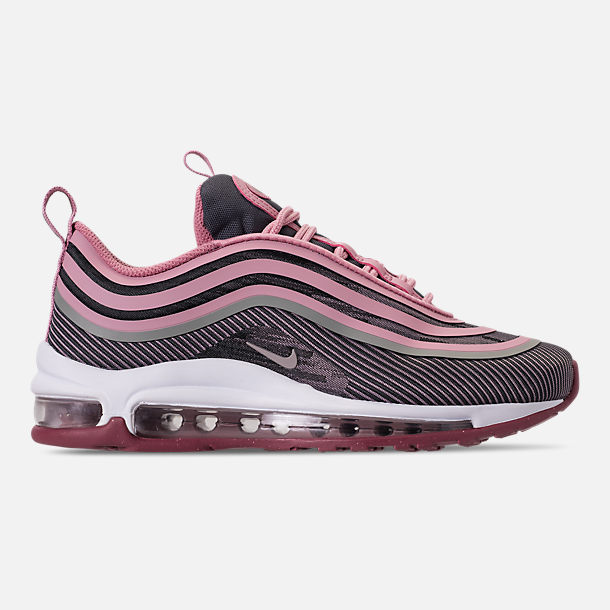 Right view of Girls' Big Kids' Nike Air Max 97 Ultra '17 Casual Shoes in Elemental Rose/Elemental Pink/Gridiron