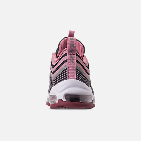 Back view of Girls' Big Kids' Nike Air Max 97 Ultra '17 Casual Shoes in Elemental Rose/Elemental Pink/Gridiron
