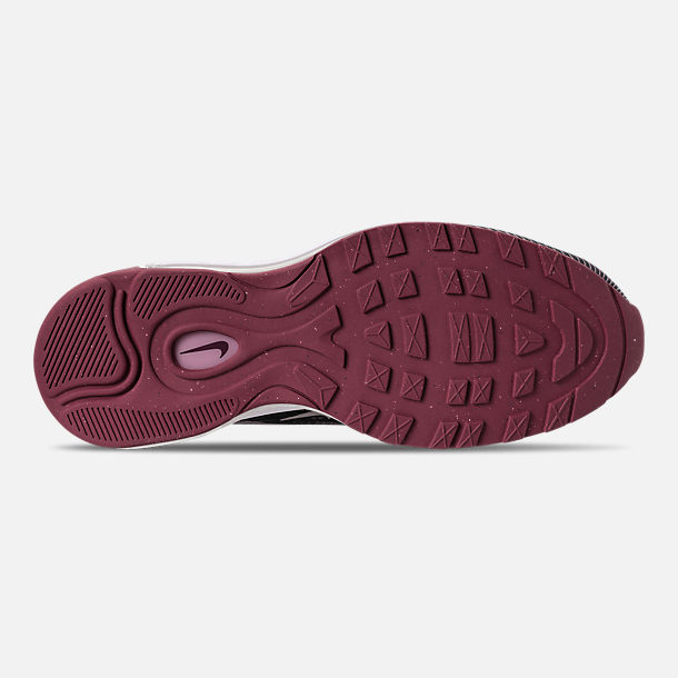 Bottom view of Girls' Big Kids' Nike Air Max 97 Ultra '17 Casual Shoes in Elemental Rose/Elemental Pink/Gridiron