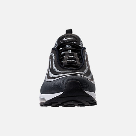 Front view of Boys' Grade School Nike Air Max 97 Ultra '17 Casual Shoes in Black/Pure Platinum/Anthracite