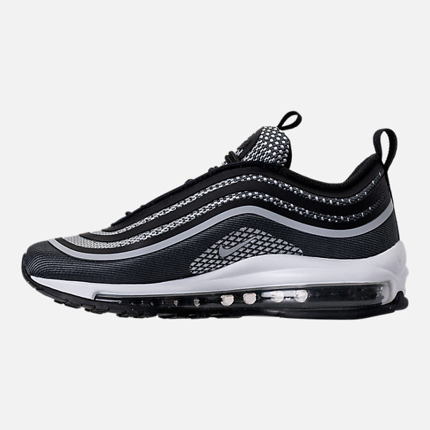 Left view of Boys' Grade School Nike Air Max 97 Ultra '17 Casual Shoes in Black/Pure Platinum/Anthracite