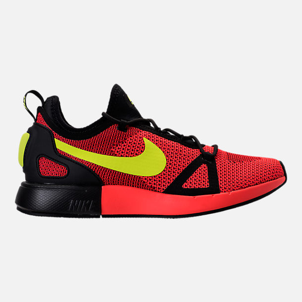 Right view of Men's Nike Duel Racer Casual Shoes in Bright Crimson/Volt/Action Red