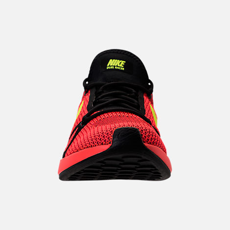 Front view of Men's Nike Duel Racer Casual Shoes in Bright Crimson/Volt/Action Red