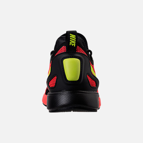 Back view of Men's Nike Duel Racer Casual Shoes in Bright Crimson/Volt/Action Red