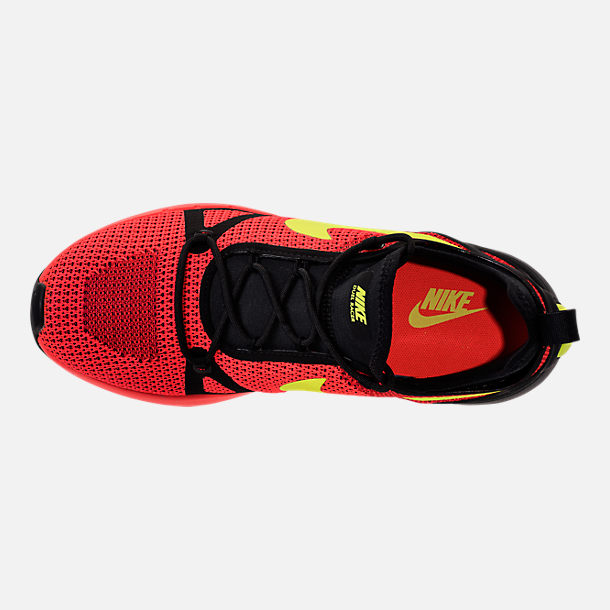 Top view of Men's Nike Duel Racer Casual Shoes in Bright Crimson/Volt/Action Red