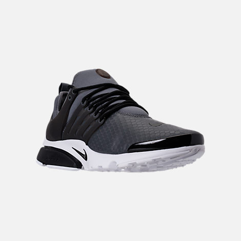 Three Quarter view of Men's Nike Air Presto Ultra SE Casual Shoes in Dark Grey/Black/White
