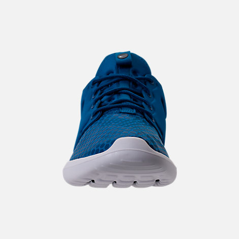 Front view of Men's Nike Roshe Two SE Casual Shoes in Blue Jay/Light Armory Blue