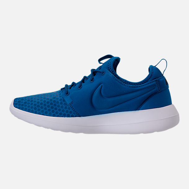 Left view of Men's Nike Roshe Two SE Casual Shoes in Blue Jay/Light Armory Blue