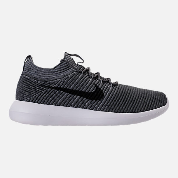 ffda1a0cdd1 Right view of Mens Nike Roshe Two Flyknit V2 Casual Shoes in Dark GreyBlack
