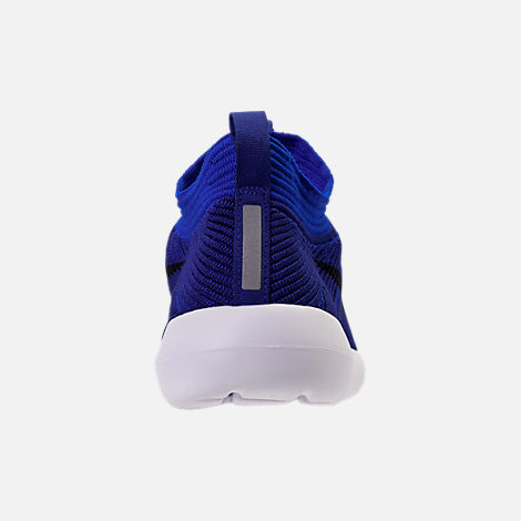 Back view of Men's Nike Roshe Two Flyknit V2 Casual Shoes in Deep Royal/Obsidian/Racer Blue