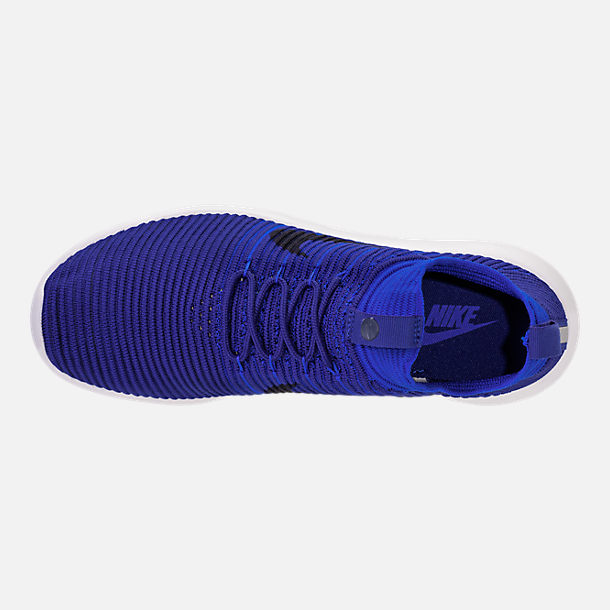 Top view of Men's Nike Roshe Two Flyknit V2 Casual Shoes in Deep Royal/Obsidian/Racer Blue