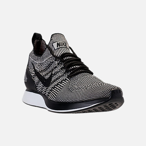 a2b402ccd9d7 ... Three Quarter view of Mens Nike Air Zoom Mariah Flyknit Racer Running  Shoes in Pale Grey .