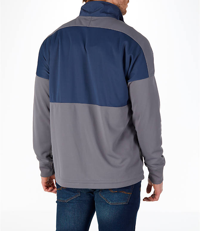 Back Right view of Men's Nike Sportswear Air Half-Zip Top
