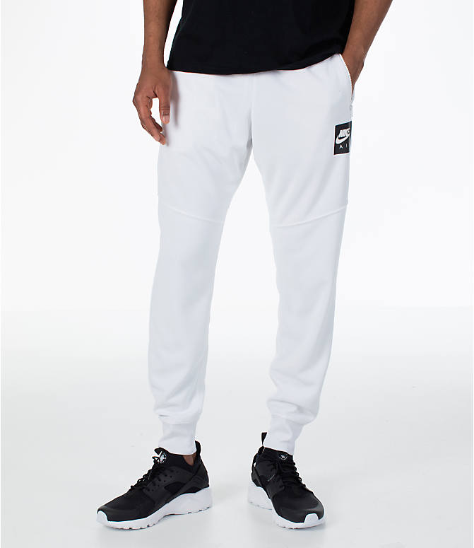 Front view of Men's Nike Sportswear Air Track Jogger Pants in White/White