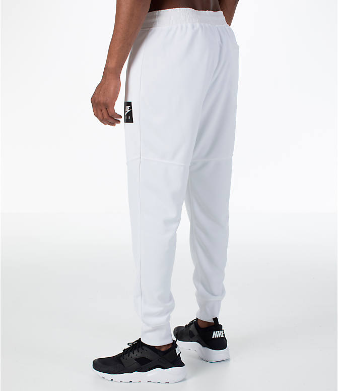 Back Left view of Men's Nike Sportswear Air Track Jogger Pants in White/White