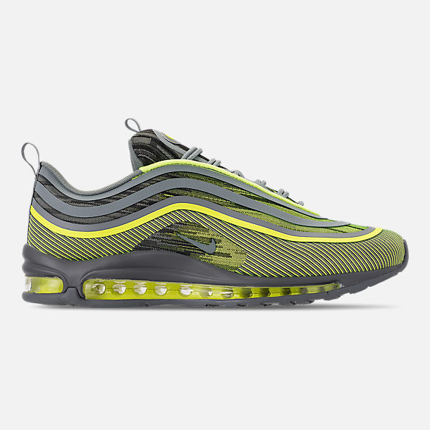 Right view of Men's Nike Air Max 97 Ultra 2017 Casual Shoes in Volt/Mica Green/Cool Grey