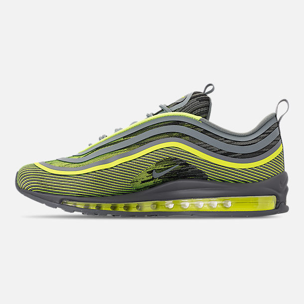 Left view of Men's Nike Air Max 97 Ultra 2017 Casual Shoes in Volt/Mica Green/Cool Grey