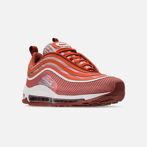 Three Quarter view of Men's Nike Air Max 97 Ultra 2017 Casual Shoes in Vintage Coral/Sail/Mars Stone
