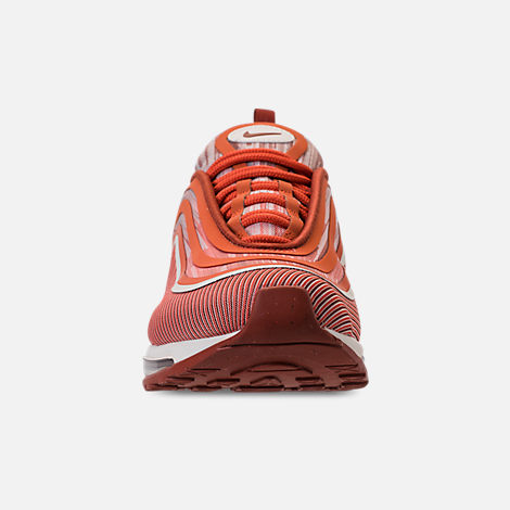 Front view of Men's Nike Air Max 97 Ultra 2017 Running Shoes in Vintage Coral/Sail/Mars Stone