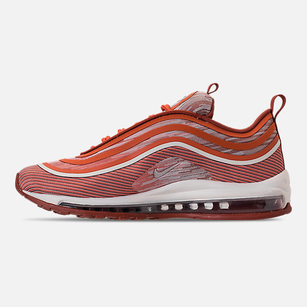 Left view of Men's Nike Air Max 97 Ultra 2017 Casual Shoes in Vintage Coral/Sail/Mars Stone