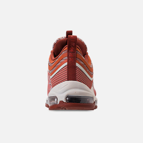 Back view of Men's Nike Air Max 97 Ultra 2017 Casual Shoes in Vintage Coral/Sail/Mars Stone