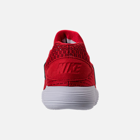 Back view of Boys' Grade School Hyperdunk Low 2017 Basketball Shoes in University Red/Black/White