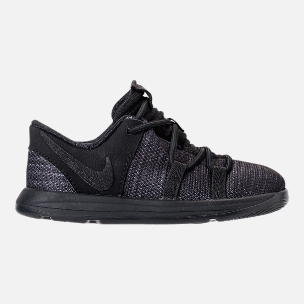 Right view of Boys' Toddler Nike KDX Basketball Shoes in Black/Dark Grey