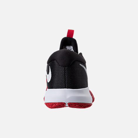Back view of Boys' Grade School Nike Zoom Assersion Running Shoes in Black/White/Gym Red