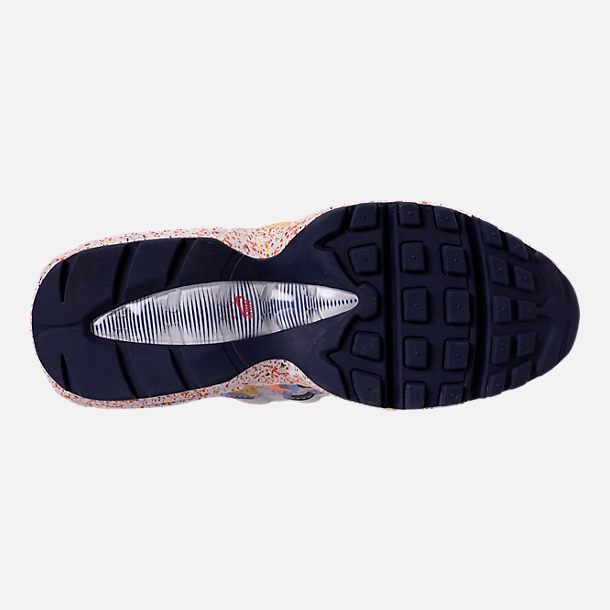 Bottom view of Women's Nike Air Max 95 SE Casual Shoes in Vast Grey/Midnight Navy/Habanero Red