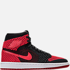 Boys' Grade School Air Jordan Retro 1 High Flyknit Basketball Shoes