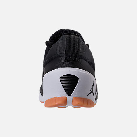 Back view of Men's Jordan Alpha Trunner Training Shoes in Black/White/Gum Yellow