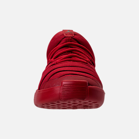 Front view of Boys' Toddler Jordan Flight Luxe Shoes in Gym Red/Black/Gym Red