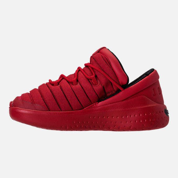 Left view of Boys' Toddler Jordan Flight Luxe Shoes in Gym Red/Black/Gym Red