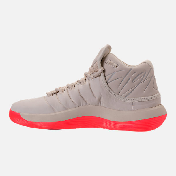 Left view of Men's Air Jordan Super.Fly 2017 Basketball Shoes in Sail/Black/Infrared