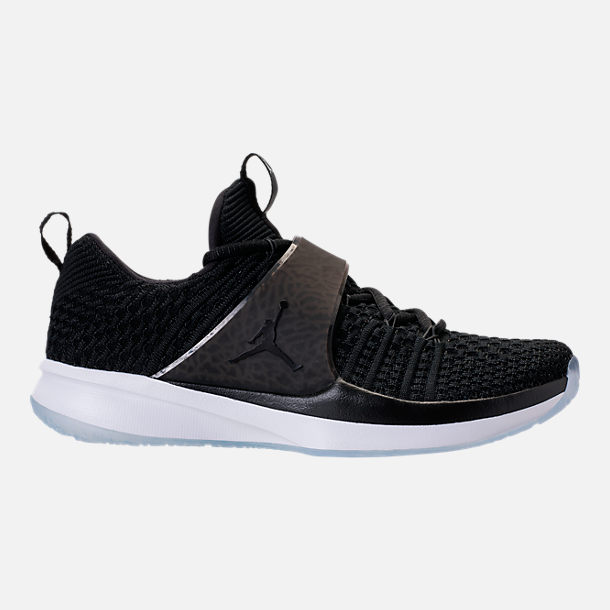 Right view of Men's Air Jordan Trainer 2 Flyknit Training Shoes in  Black/Black/