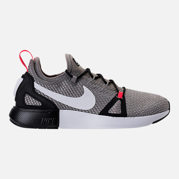 Right view of Boys' Grade School Nike Duel Racer Running Shoes in Light  Charcoal/