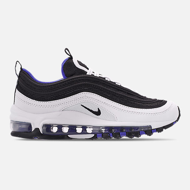 Right view of Big Kids  Nike Air Max 97 Casual Shoes in White Black 10f7db83938