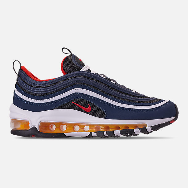 c2a3f72ecba7b Right view of Big Kids' Nike Air Max 97 Casual Shoes in Midnight Navy/