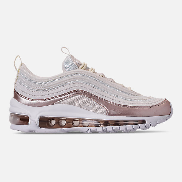 Right view of Girls' Big Kids' Nike Air Max 97 Casual Shoes in Phantom/Phantom/Metallic Red Bronze/White
