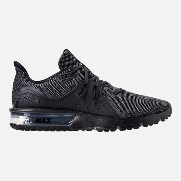 Right view of Men's Nike Air Max Sequent 3 Running Shoes in Black/Anthracite