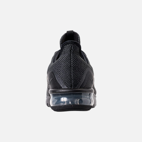 Back view of Men's Nike Air Max Sequent 3 Running Shoes in Black/Anthracite