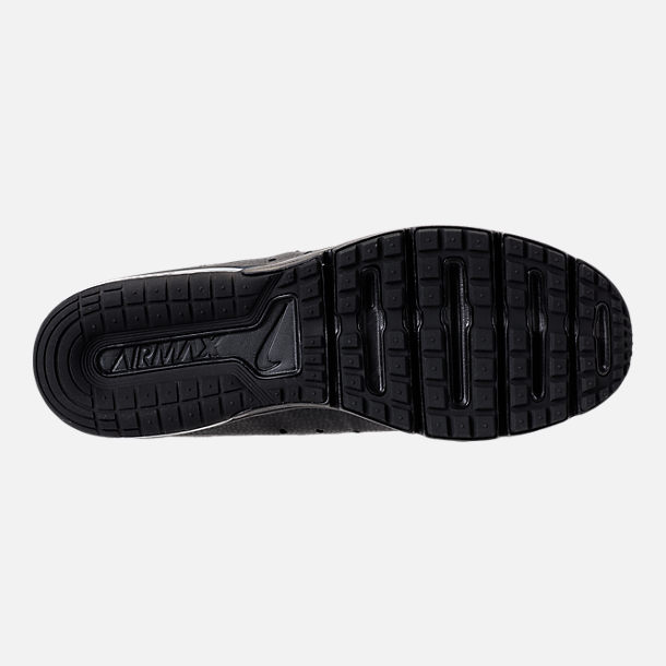 Bottom view of Men's Nike Air Max Sequent 3 Running Shoes in Black/Anthracite
