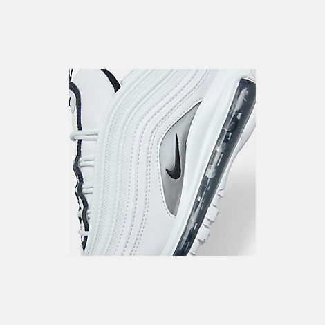 Front view of Women's Nike Air Max 97 Casual Shoes in White/Black/Summit White/White